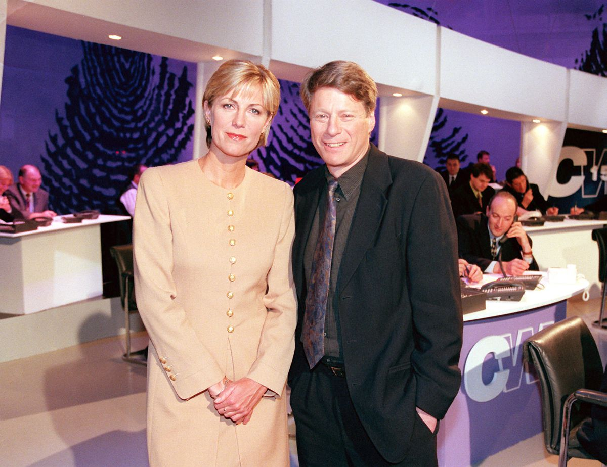 Ross with co-presenter Jill Dando, who was tragically murdered on her doorstep