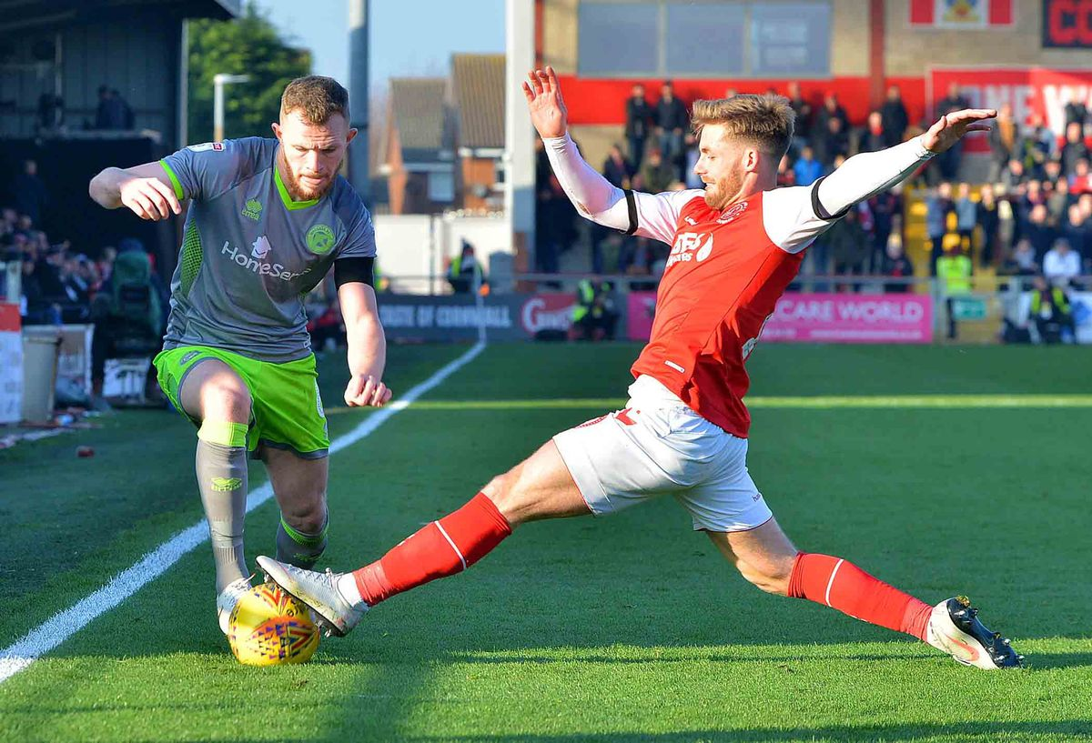 Conor McAleny in action against Walsall.