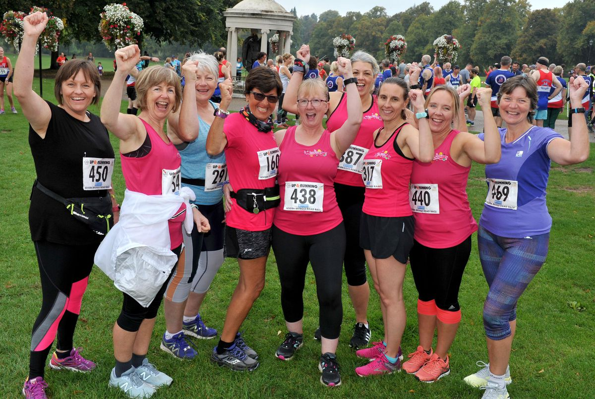 Members of the Dolly Mixtures running group for women