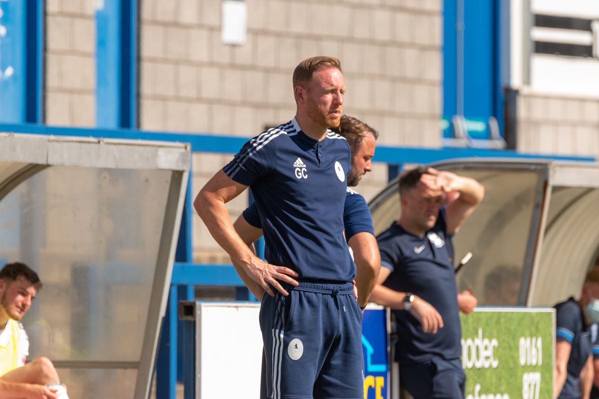 Gavin Cowan watches over his AFC Telford side