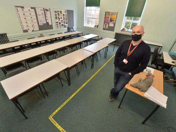 Students all face the same way as part of the new restrictions
