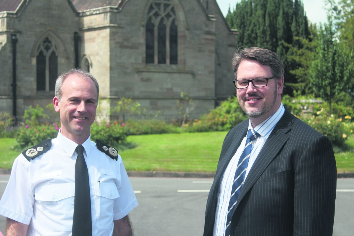 West Mercia Chief Constable Anthony Bangham and Police and Crime Commissioner John Campion
