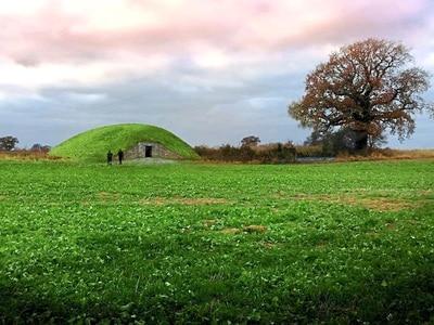 Three limestone monoliths mark a path to Shropshire's first long barrow in 5,000 years