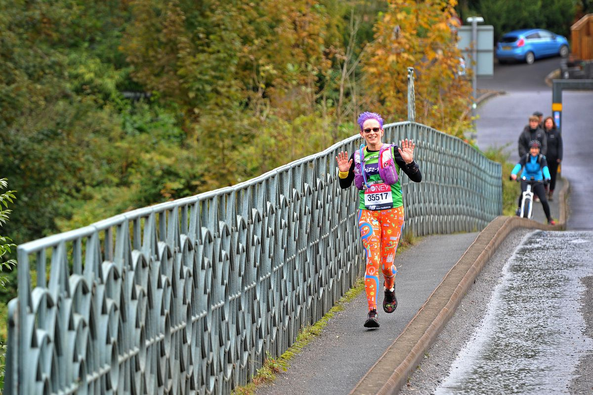 Amanda Ellis from Admaston runs over the Woodbridge