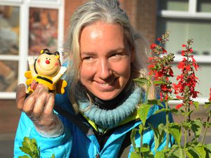 Helen Godfrey, of Whixall, brought her Buzzy Bees plants for wildlife to the market