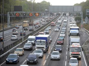 Congestion on the M6 at junction 10 (Library picture)