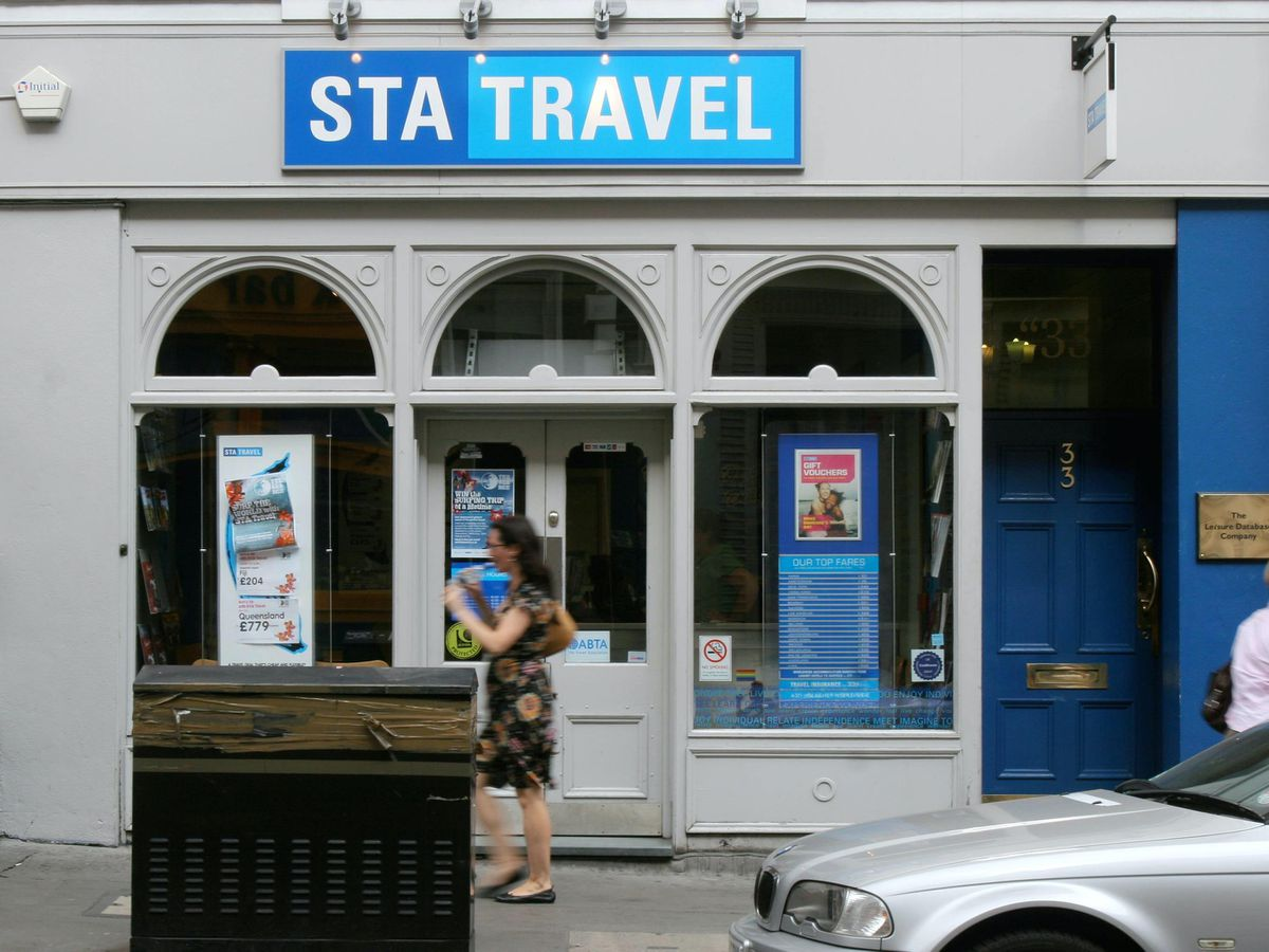 An STA Travel agent in London