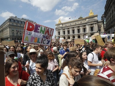 Climate protesters turn out as Europe votes on parliament
