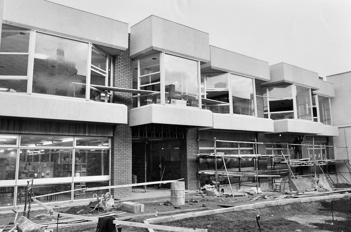 The scaffolding is still up, but completion is clearly not that far away. This is the Whitchurch Civic Centre building under construction, pictured on November 9, 1970.