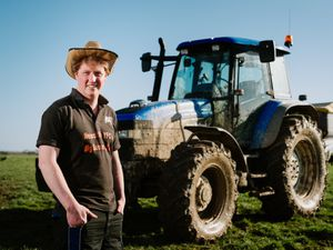 Tom The Young Farmer from Shropshire on the farm in Myddle..
