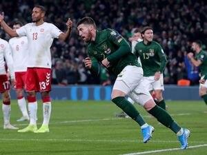 Republic of Ireland's Matt Doherty celebrates