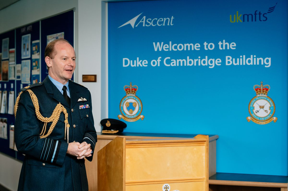Air Chief Marshal Mike Wigston opens the Duke of Cambridge Building and marks the rebadging of the Defence Helicopter Flying School to No 1 Flying Training School at RAF Shawbury