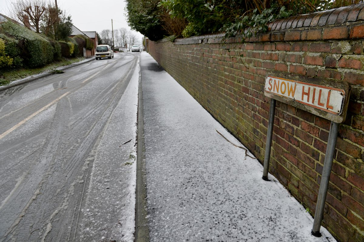 Snow Hill in St Georges, Telford, is living up to its name