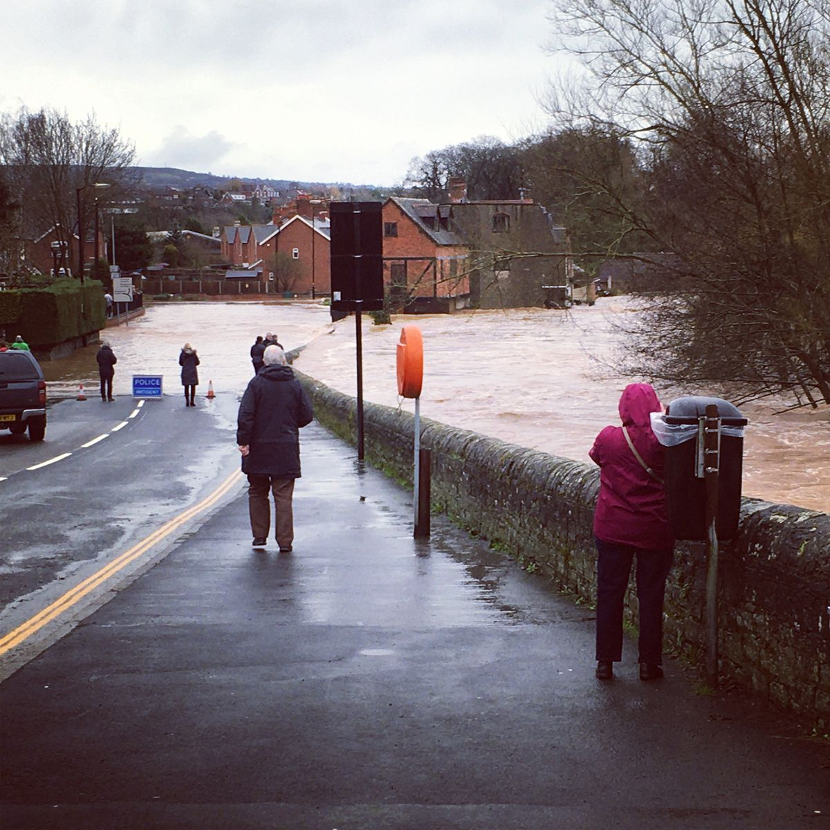 Floding at the River Teme in Ludlow after Storm Dennis. Photo: Victoria Martin