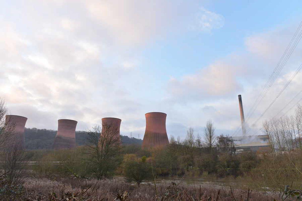 Ironbridge Power Station this morning