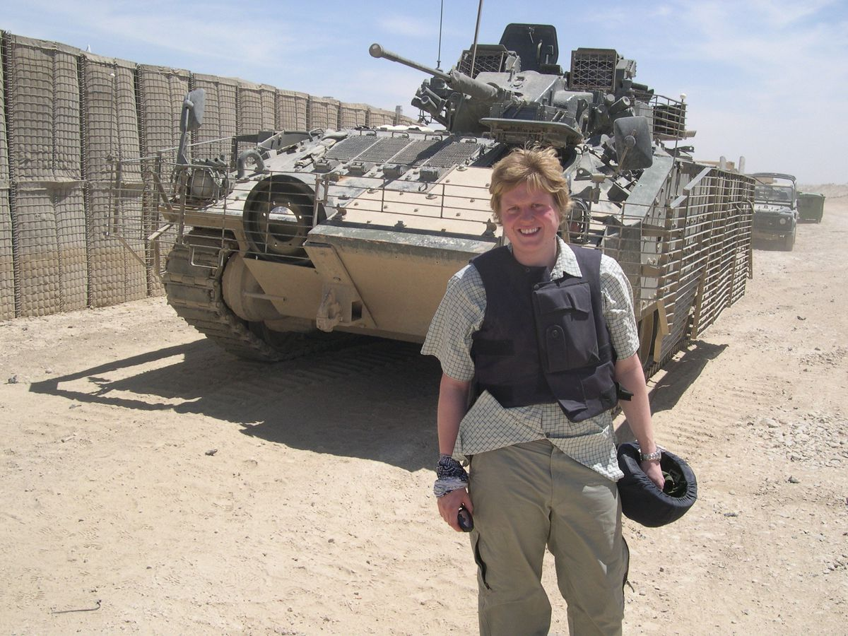 Former Chronicle reporter James Holt is pictured at the front line in Iraq