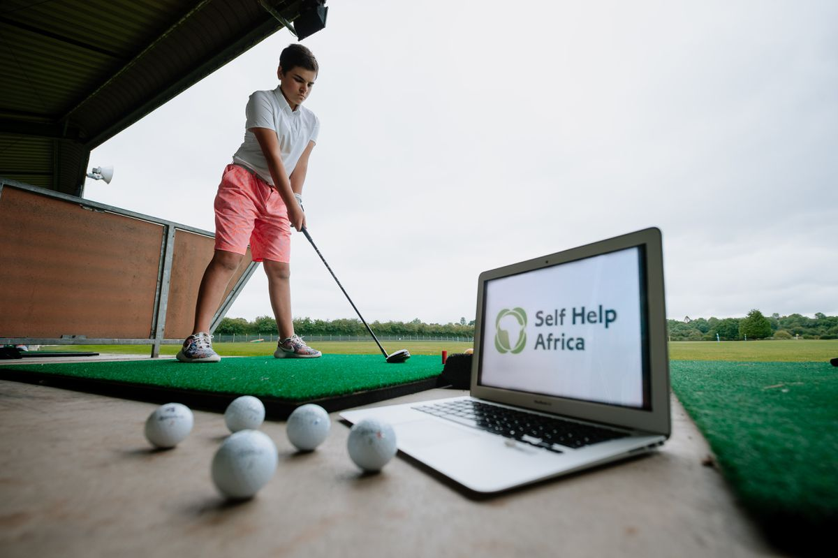 Izzy Negron-Jennings, 11, will be taking part in the virtual golf tournament to raise money for charity