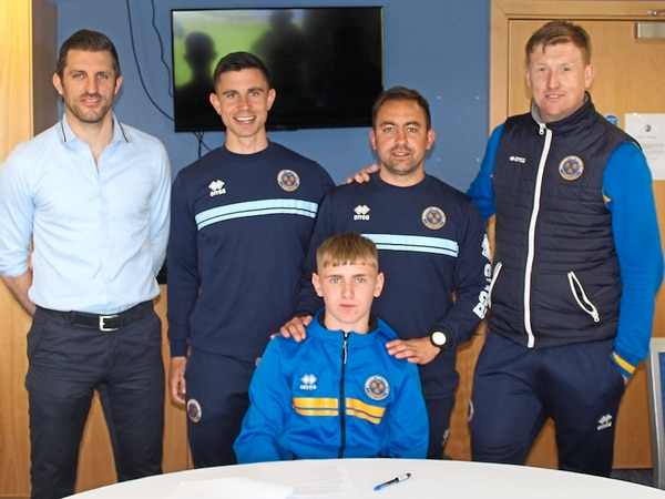Shrewsbury Town starlet James Rowland signs first professional contract