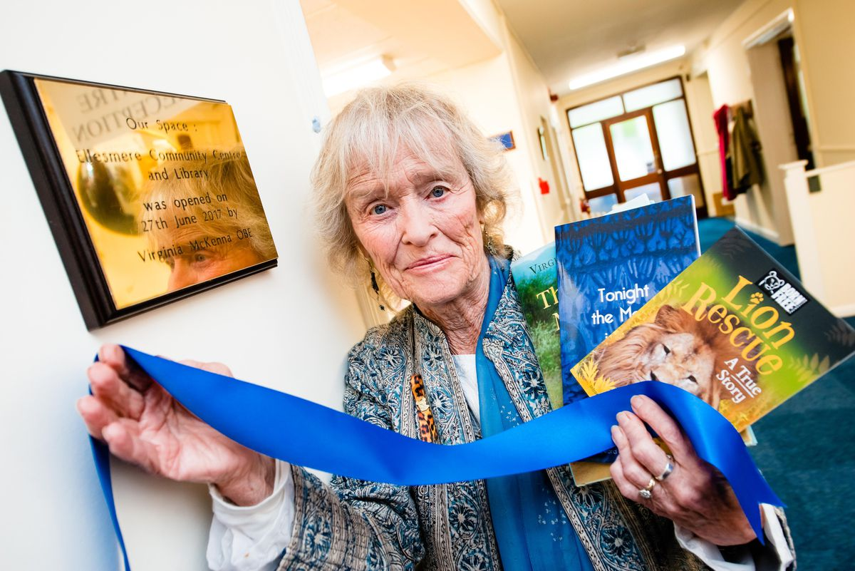 Virginia McKenna at Our Space Ellesmere Community Centre and Library at Meres Day Centre