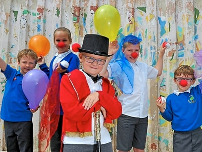 Roll up as circus comes to Telford school