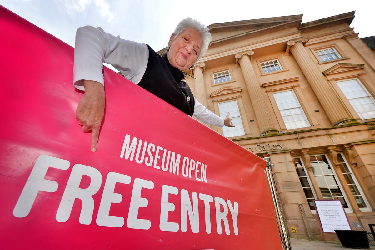 Shrewsbury Museum's Maggie Love is ready to welcome visitors