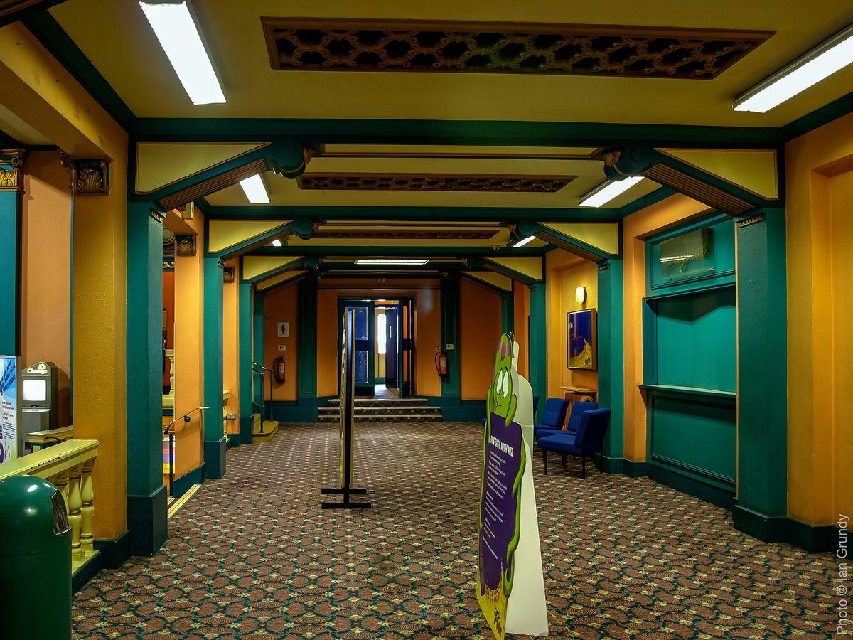 The foyer of the former Granada cinema in Shrewsbury