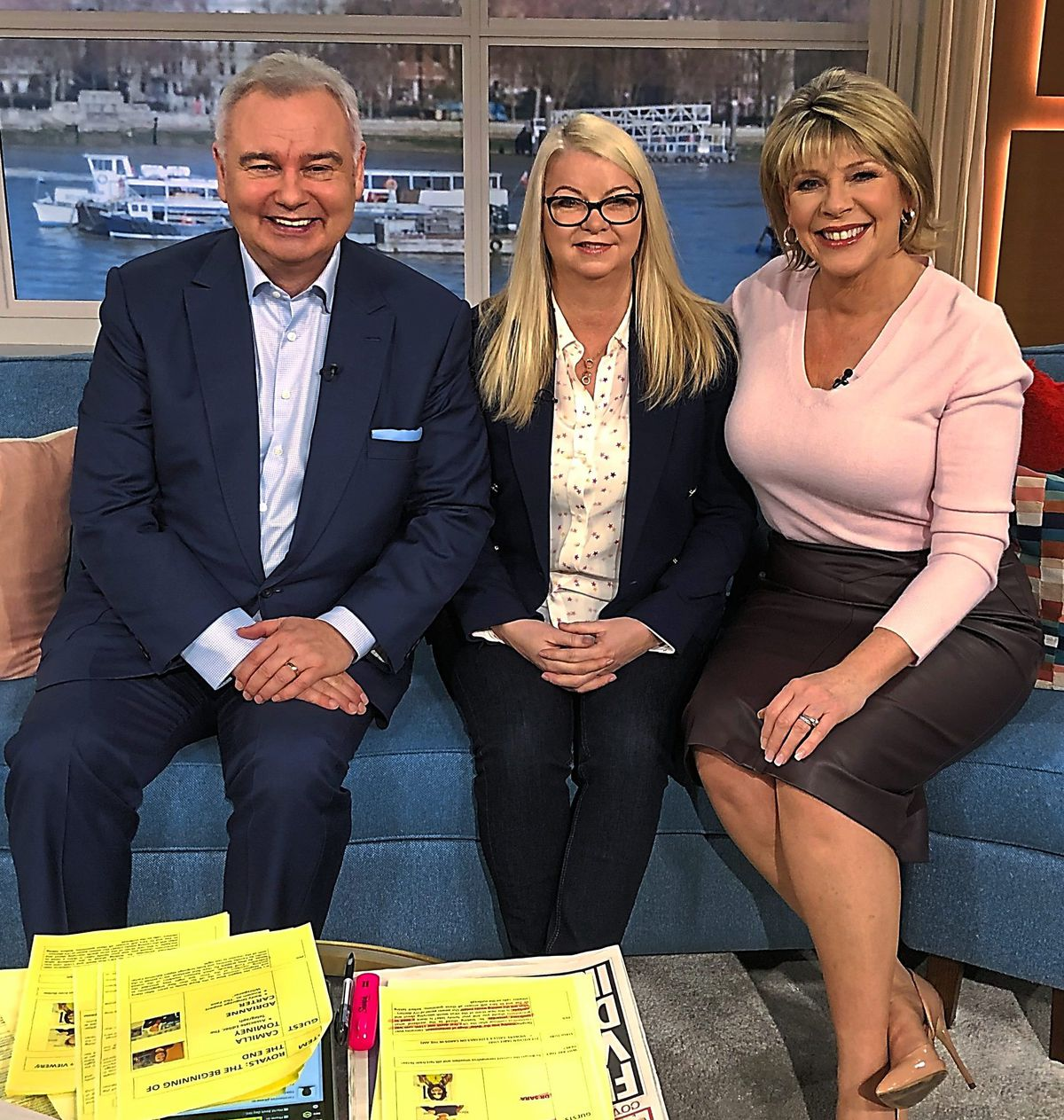 Adrianne with Eamonn Holmes and his wife Ruth