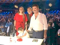 Zac Oliver gets a buzz meeting Simon Cowell at Britain's Got Talent