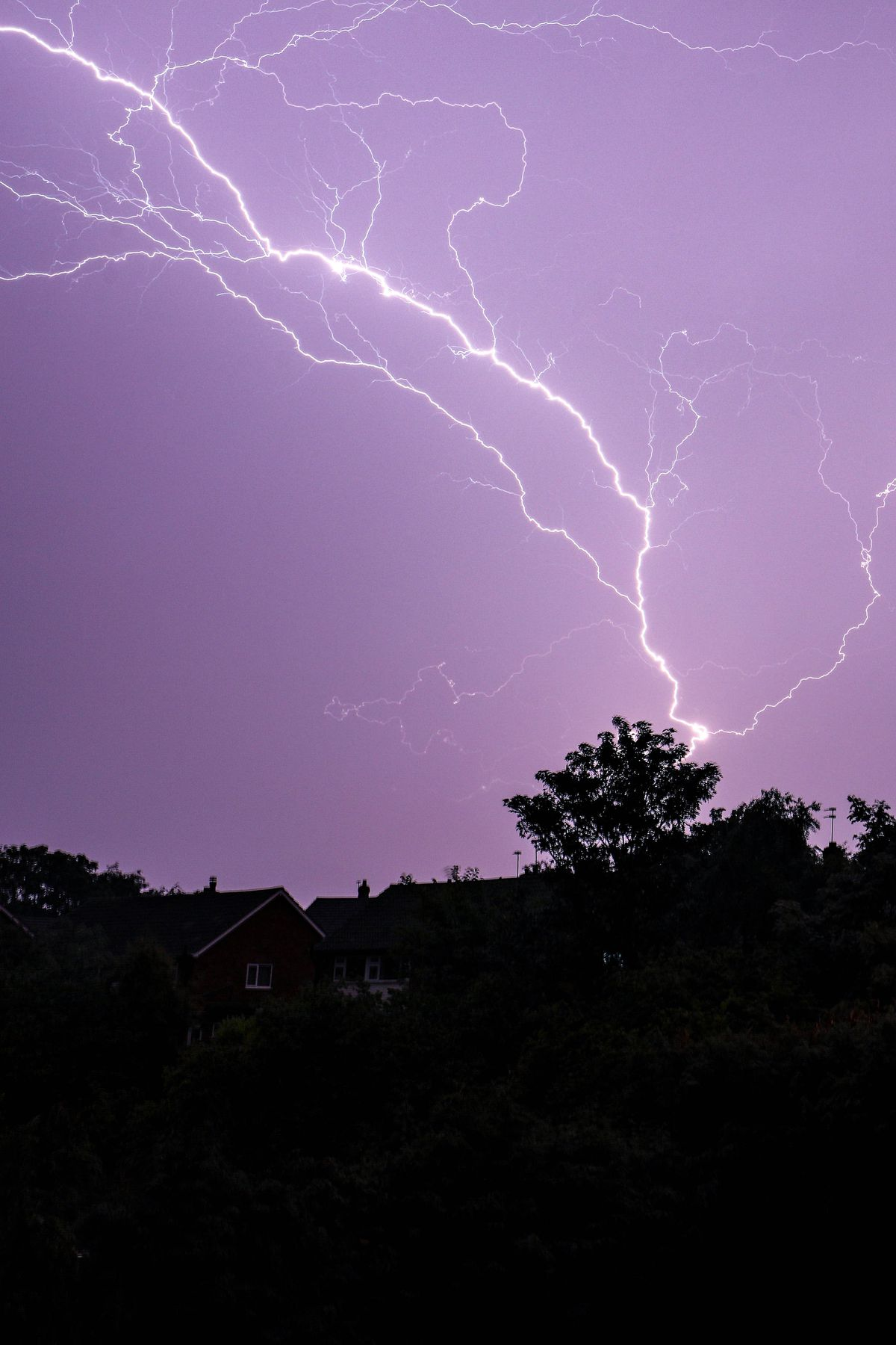 Storms have been forecast to continue during Sunday. PICTURE: Shaun Fellows/Shine Pix