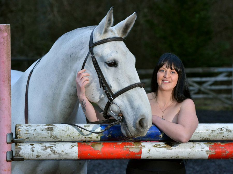Grace Oakley is planning to ride her horse through Ludlow wearing little more than a smile