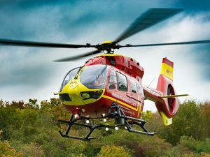 Seriously injured cyclist airlifted to hospital after falling off bike on Long Mynd