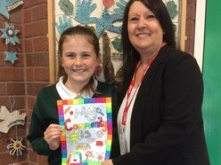 Pupil Grace's winning poster to go on show at Shropshire store