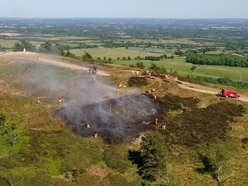 WATCH: Firefighters tackle blaze on top of the Wrekin