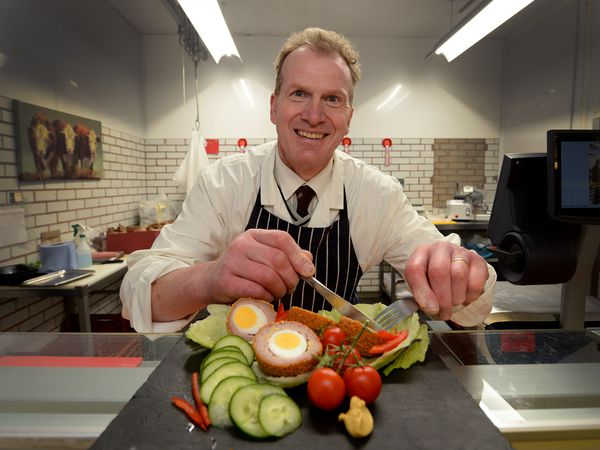 Butcher Darren Morgan is urging pubs across the county to serve Scotch eggs