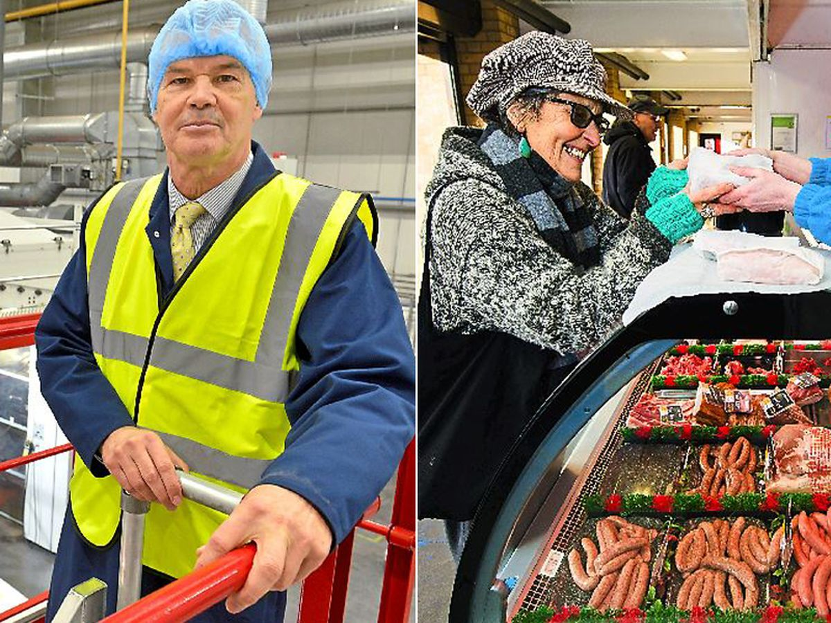 Left; Mike Golding from TCL Packaging. Right; Diana Baur only visits the butcher for her dog.