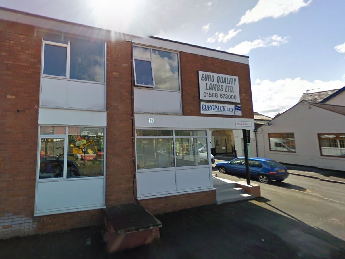 The offices of Euro Quality Lambs in Craven Arms. Photo: Google