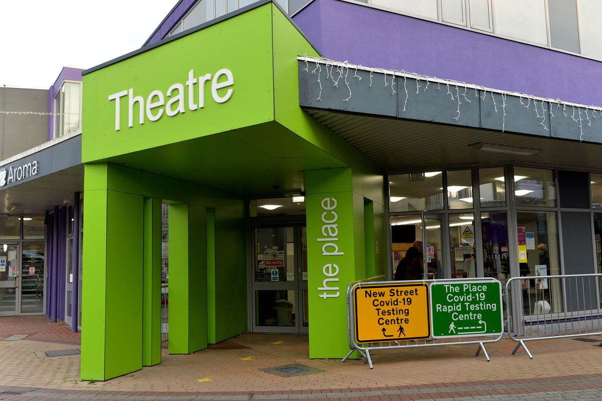Telford's new rapid Covid testing centre at The Place Theatre in Oakengates
