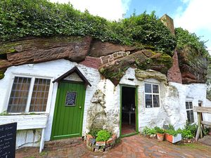 DUDLEY PIC AND TICKET PIC DAVID HAMILTON PIC EXPRESS AND STAR PIC 6/04/2017 Heather Large feature... Some of the Rock Houses, at Kinver.