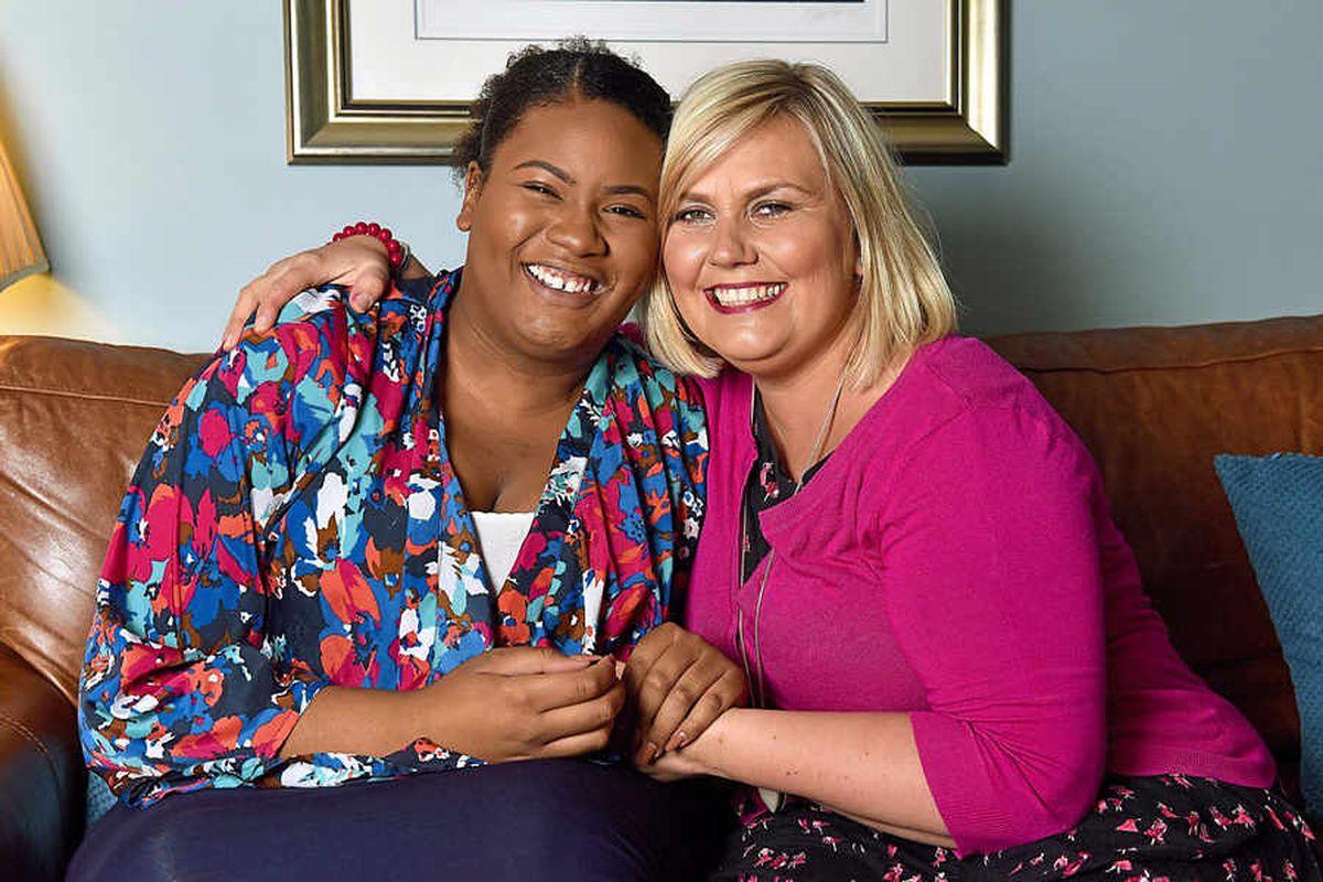 Special bond – Attack victim Francesca Quintyne, left, with her former nursery nurse Lisa Potts