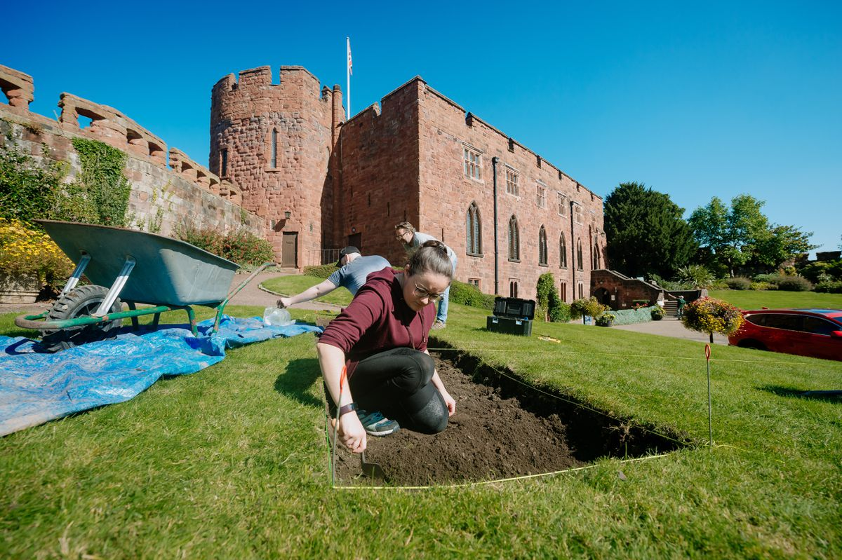 Another Archaeological dig has begun at Shrewsbury Castle
