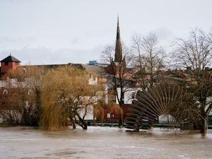 Flooding in Shrewsbury last year