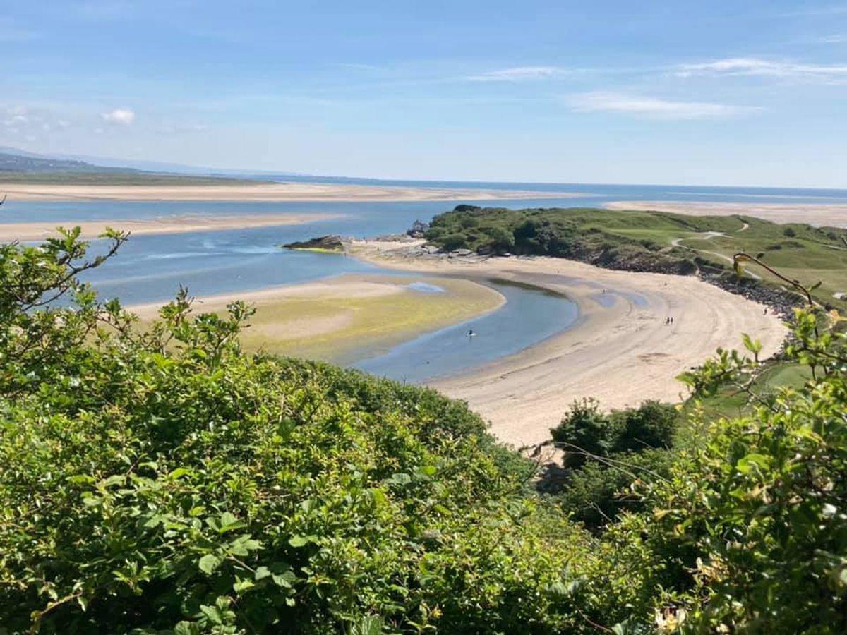 The Welsh coastline near Porthmadog