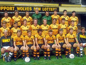 Tony Towner, second left on thesecond row, and the restof Wolves' 1983/84 squad.
