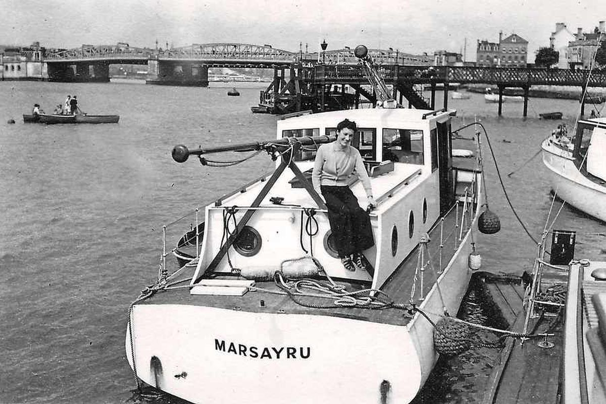 A pre-war picture of the pleasure cruiser Marsayru, a 'Dunkirk little ship.