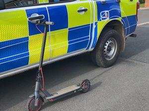 E-scooter. Pic: @TelfordCops