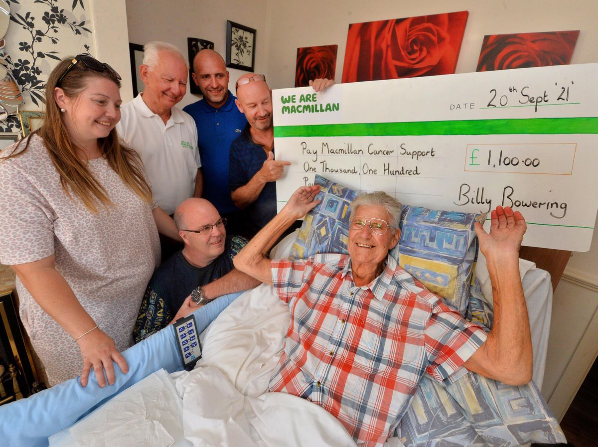 Billy Bowering raised more than £1,000 for Macmillan when he had his hair chopped off
