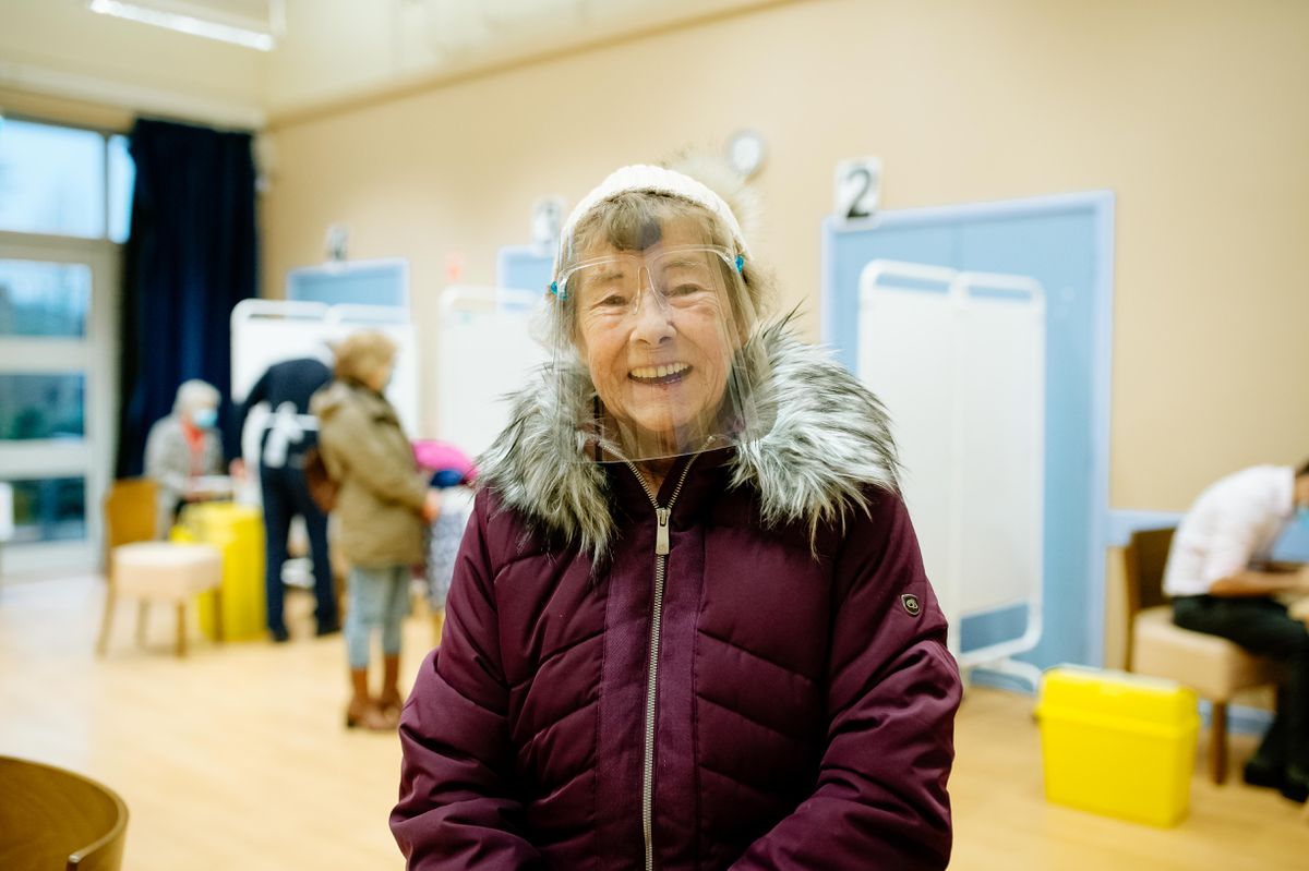 Happy to be vaccinated - Margaret Smith, 82, from Shifnal