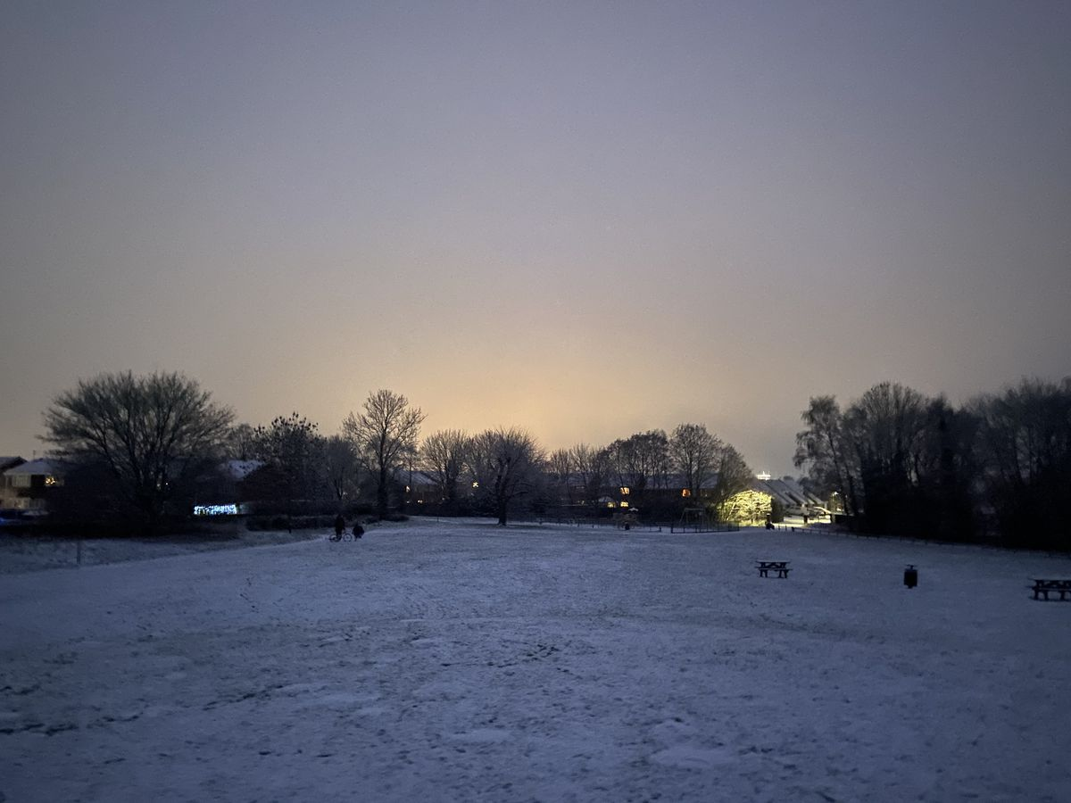 Snow in Newport, Shropshire. Photo:: Dan Guyton.