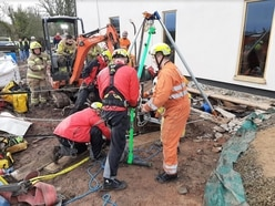 Three-hour rescue after man falls down well