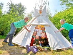 Church Stretton youngsters pitch in for teepee fun